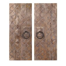 Alba Wood Carved Wall Décor Set