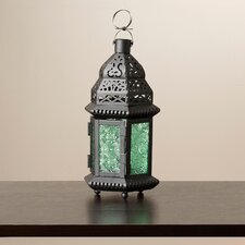 Lucy Green Glass Moroccan Lantern