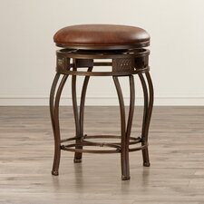 "Leto 26"" Swivel Bar Stool with Cushion"