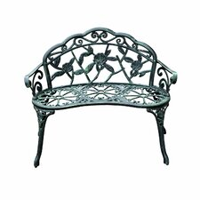 Cast Iron Antique Outdoor Patio Garden Bench