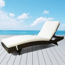 Patio Chaise Lounge with Cushion
