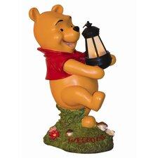 Disney Winnie The Pooh Holding Lighted Lantern Statue
