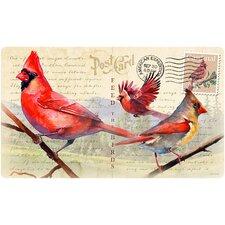 Cardinal Postcard Cutting Board