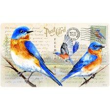 Bluebird Postcard Cutting Board