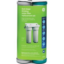 Smart Water Dual Stage under Sink Replacement Filter Cartridge (Set of 2)