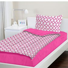 3 Piece Bed in a Bag Set in Pink