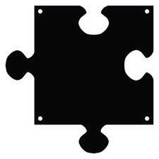 Puzzle Piece Magnetic Chalkboard