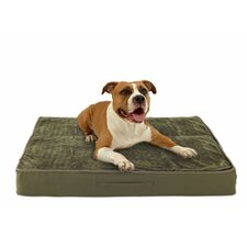 Eco-Friendly Dog Bed with Lux Fleece Cover
