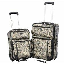 Travel Print 2 Piece Luggage Set