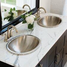 Dual Mount Oval Bathroom Sink