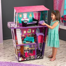 Monster Manor Dollhouse with Furniture