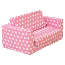 Lil Kids Lounger in Pink & White