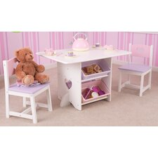 Heart Kids 7 Piece Table & Chair Set