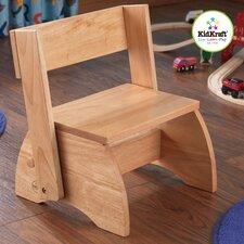 1-Step Manufactured Wood Kid's Flip Step Stool
