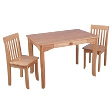 Avalon 3 Piece Table & Chair Set