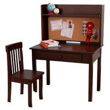 """Pinboard 3 Piece 31"""" Writing Desk and Hutch Set"""