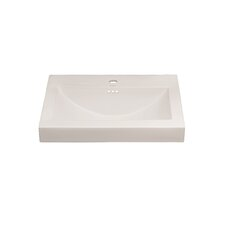 """Evin™ 32"""" Ceramic Sinktop with 8"""" Widespread Faucet Hole in White"""