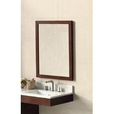 Contemporary Solid Wood Framed Bathroom Mirror in Dark Cherry