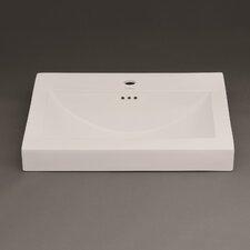 """Evin 24"""" Ceramic Sinktop with Single Faucet Hole in Cool Gray"""