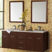 "Bella 23"" Wall Mount Bathroom Vanity Base Cabinet in Dark Cherry"