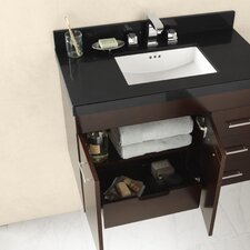 "TechStone™ WideAppeal™ 37"" x 19"" Vanity Top in Broad Black  - 2"" Thick"