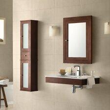 "Adina 31"" Wall Mount Bathroom Vanity Base Cabinet in Dark Cherry"