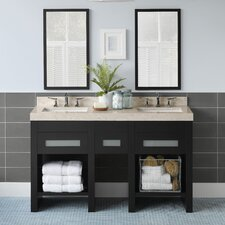 "Kendra 58"" Double Bathroom Vanity Set with Mirror"