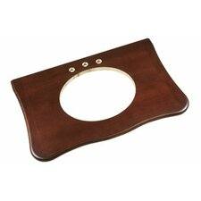 """Corsica 37"""" x 22"""" Wood Vanity Top Counter in Colonial Cherry"""
