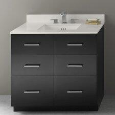 "Lassen 36"" Eco-Friendly Bathroom Vanity Cabinet Base in Black"