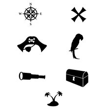 Pirate Icons Wall Decal