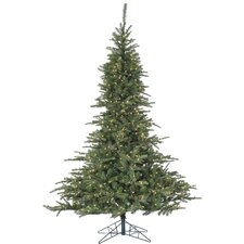 Cluster Pine 7.5' Green Artificial Christmas Tree with 700 Smart String Lights and Stand