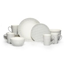 Aurora Gray 16 Piece Dinnerware Set