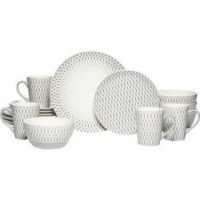 Aurora Gray 16 Piece Dinnerware Set