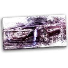 Black Convertible Car Graphic Art on Wrapped Canvas