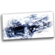 Black Luxury Car Graphic Art on Wrapped Canvas