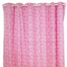Tabby Cheetah Cotton Shower Curtain