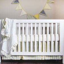 Argyle Giraffe 4 Piece Crib Bedding Set