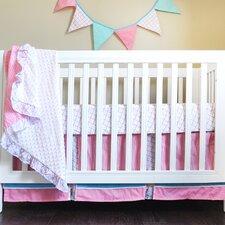 Simply Aqua 4 Piece Crib Bedding Set