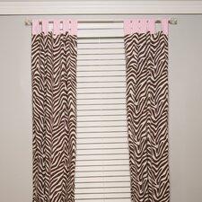 Zara Zebra Cotton Blend Curtain Panel