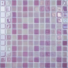 "Lux Eco 12.375"" W x 12.375"" L Glass Mosaic in Pink Passion"