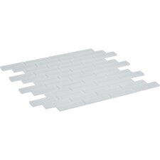 "Parallel 11.75"" x 12"" Glass Mosaic Tile in Fog"