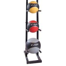 24 lbs Colored Medicine Ball Set with Rack