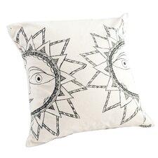Madhubani Sun Hand Embroidered Pillow
