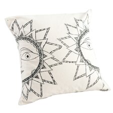 Madhubani Sun Hand Painted Pillow