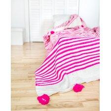 Pom Pom Wool Blanket