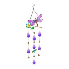 Purple Dragonlfy Ornament Wall Decor