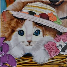 Cat with a Hat Tile Wall Decor