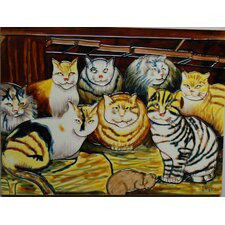 Eight Cats Tile Wall Decor