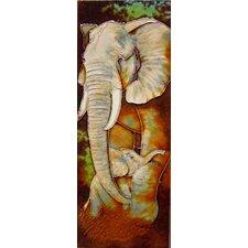 Elephant Tile Wall Decor
