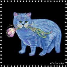 Garlic Cat Tile Wall Decor